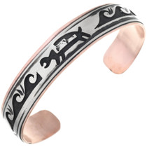 Navajo Hopi Waves Copper Bracelet 32843