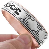 Silver Copper Navajo Overlay Bracelet 32844