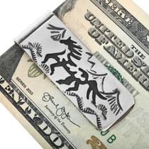 Native American Silver Overlay Money Clips 32848