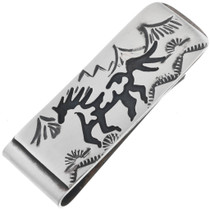 Overlaid Silver Navajo Money Clip 32848