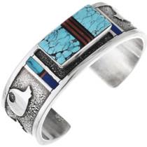 Turquoise Sterling Silver Navajo Bracelet 32864
