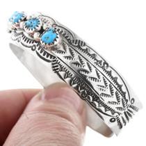 Navajo Hammered Sterling Silver Bracelet 32866