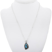 Sterling Silver Turquoise Pendant 32868