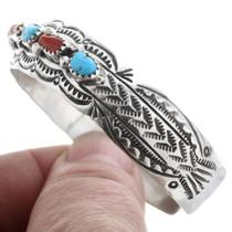 Navajo Hand Hammered Turquoise Bracelet 32871