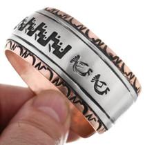 Navajo Copper Silver Overlay Cuff 32872