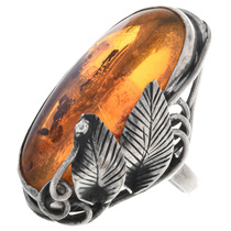 Vintage Amber Ring 32876