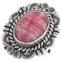 Vintage Navajo Rhodochrosite Ladies Ring 32878