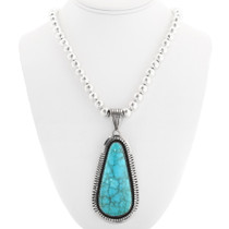 Navajo Garrison Boyd Turquoise Pendant 32879
