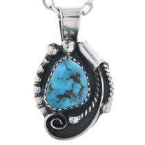 Genuine Turquoise Navajo Pendant 32880