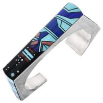 Vintage Turquoise Inlay Navajo Bracelet 32882