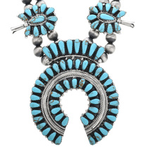 Navajo Juliana Williams Turquoise Squash Blossom 32884