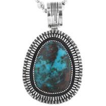 Genuine Bisbee Turquoise Pendant 32886