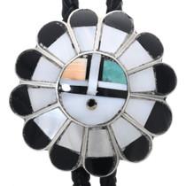 Zuni Sunface Inlay Bolo Tie 32896