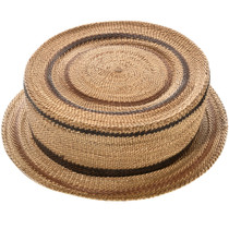 Antique Hupa Tribe Basket Hat 32901