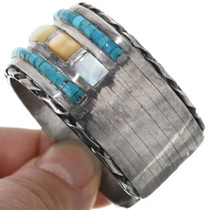 Navajo Shell Turquoise Cuff Bracelet 32903