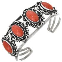 Vintage Coral Silver Bracelet 32904
