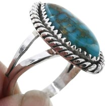 Navajo Sterling Silver Turquoise Ring 32909