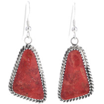 Apple Coral Navajo Earrings 32910