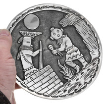 Navajo Authentic Becenti Silver Overlay Plate 32913