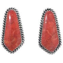 Apple Coral Navajo Post Earrings 32929