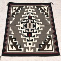 Vintage Western Reservation Wool Rug 32931