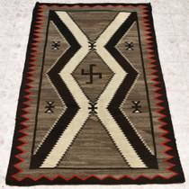 Antique Navajo Whirling Log Wool Rug 32932
