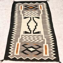 Vintage Navajo Storm Pattern Rug 32933