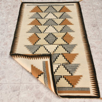 Wool Step Pattern Rug 32934