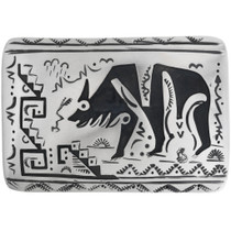 Navajo Pattern Silver Bear Buckle 32944