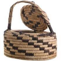 Papago Hand Woven Lidded Basket Handle 32947