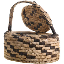 Papago Hand Woven Lidded Basket Handle 32947