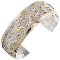 Silver Gold Navajo Storyteller Bracelet 32958