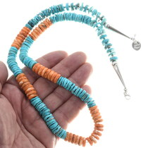 Turquoise Spiny Oyster Beaded Necklace 32959