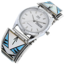Vintage Inlaid Turquoise Watch 32960