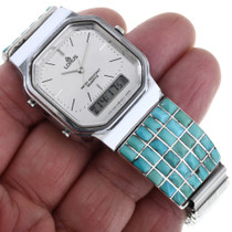 Zuni Sleeping Beauty Turquoise Watch 32962
