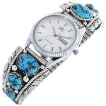 Vintage Native American Turquoise Watch 32963