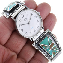 Turquoise Sterling Silver Native American Watch 32964