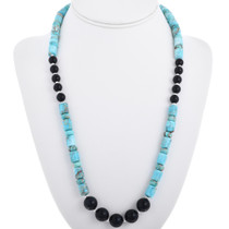 Navajo Blue Jasper Beaded Necklace 32969