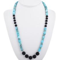 Navajo Blue Jasper Beaded Necklace 32969
