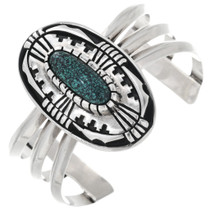 Vintage Navajo Sterling Silver Turquoise Bracelet 32975