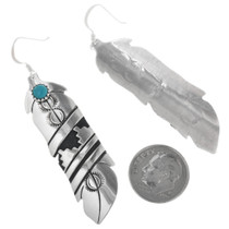 Tommy Singer Silver Overlay Earrings 32976