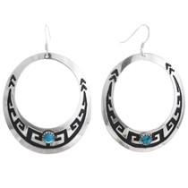 Sterling Silver Navajo Turquoise Earrings 32978