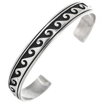 Navajo Sterling Silver Wave Bracelet 32982