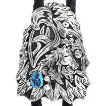 Native American Sterling Silver Eagle Bolo Tie 32984