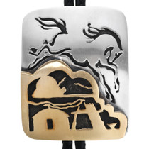 Sterling Silver Gold Horse Bolo Tie 32989