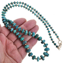 Graduated Turquoise Beaded Navajo Necklace 32996