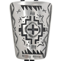 Traditional Overlay Cross Silver Bolo Tie 33008