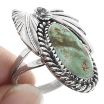 Navajo Will Arviso Turquoise Rings 33019