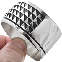 Triangle Rows Cuff Handcrafted Sterling Bracelet 33023