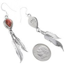 Navajo Hand Made Spiny Oyster Earrings 33028